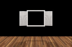 Space behind the opening window,3D Royalty Free Stock Images