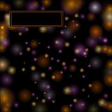 Space black background banner Royalty Free Stock Image