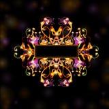 Space black fantasy bright background Stock Image