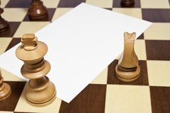 Space blank on chessboard Royalty Free Stock Photos