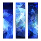 Space blue banners or invitation templates Stock Images
