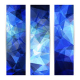 Space blue banners or invitation templates Royalty Free Stock Image