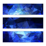 Space blue banners or invitation templates Royalty Free Stock Photo