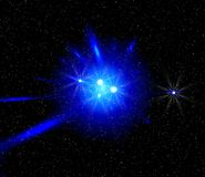 Space blue light stock images