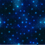 Space blue pattern Stock Image