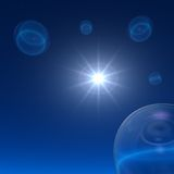 Space Bubbles - Night Star Royalty Free Stock Image