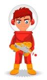 Space cadet boy cartoon Royalty Free Stock Image