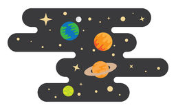 Space cartoon background Royalty Free Stock Photo