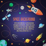 Space Cartoon Background Stock Photo