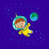 Space child cartoon Royalty Free Stock Photo