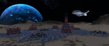 Space city Stock Photo
