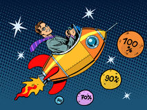 Space closeout business concept growth in sales Royalty Free Stock Images