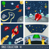 Space collection 6 Royalty Free Stock Photos