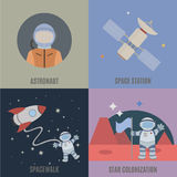 Space and colonization of planets Stock Photo