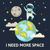 Space Colored Poster Royalty Free Stock Image