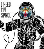 Space concept with astronaut Stock Photography