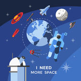 Space Concept Poster Stock Photography
