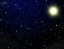 Space. A congestion of stars Royalty Free Stock Photo