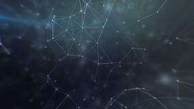Space connection futuristic interface stock footage