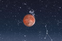 Space.Constellation del cáncer Imagen de archivo libre de regalías