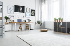 Space for creative actions. In bright, modern home Stock Photo