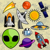 Space design elements Stock Photography
