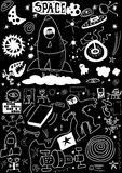Space doodle Stock Photography