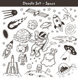 Space doodles Stock Photos