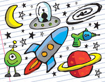 Space Doodles Stock Photo