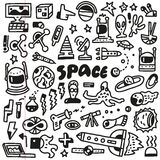 Space - doodles set Stock Images