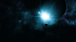 Space Eclipse Background Royalty Free Stock Photos