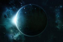 Space Eclipse Background Royalty Free Stock Photography