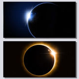 Space Eclipse Banners Stock Images