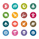 Space Element Color Icons Stock Photography