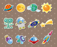 Space element stickers stock illustration