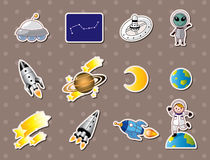 Space element stickers Royalty Free Stock Photos