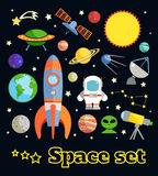 Space elements set Royalty Free Stock Photos