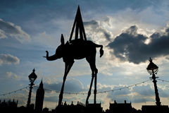 Space Elephant Statue Salvador Dali Royalty Free Stock Image