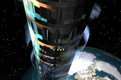 Space Elevator1 stock illustration