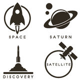 Space emblems Royalty Free Stock Photography