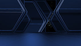 Space environment, ready for comp of your characters.3d Royalty Free Stock Photos