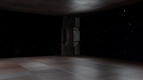 Space environment, ready for comp of your characters 3D render Royalty Free Stock Images