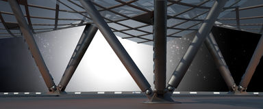 Space environment  ready for comp of your characters 3D render Royalty Free Stock Images