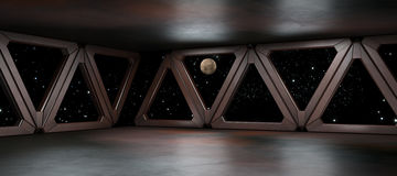 Space environment  ready for comp of your characters 3D render Stock Image