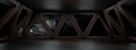 Space environment  ready for comp of your characters 3D render Royalty Free Stock Photography