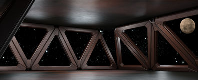 Space environment  ready for comp of your characters 3D render Stock Images