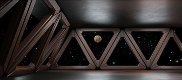 Space environment  ready for comp of your characters 3D render Stock Photo