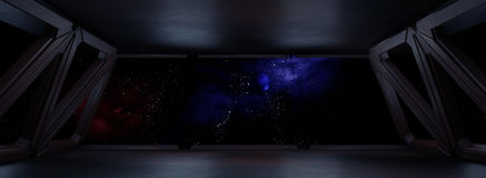 Space environment, ready for comp of your characters.3D render Stock Image