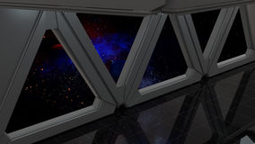 Space environment, ready for comp of your characters.3D render Royalty Free Stock Image