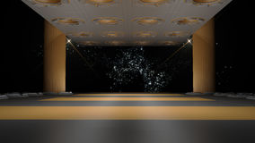 Space environment, ready for comp of your characters.3D renderin Stock Photography